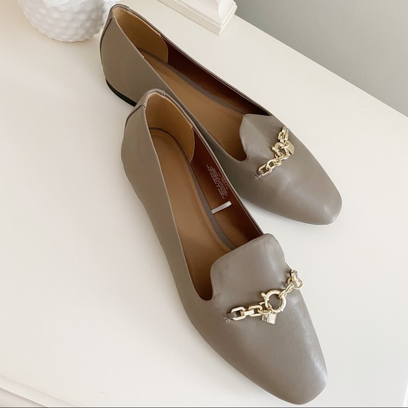 H&M Taupe with Chain Flats Size 9.5